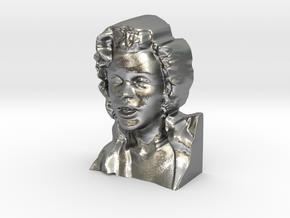 Marilyn Monroe Bust 9cm in Natural Silver