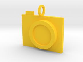 Camera Pendant in Yellow Processed Versatile Plastic