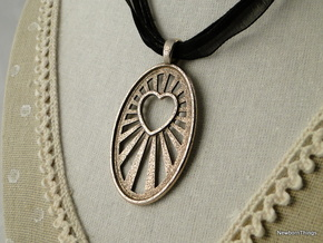 Pendant SteamLove V06 in Polished Bronzed Silver Steel