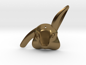 Bibo - rabbit pendant in Polished Bronze