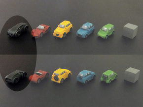 Miniature cars, Concept car model (8pcs) in Black Strong & Flexible