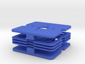 Dime Puzzle 3x3 v2 in Blue Strong & Flexible Polished