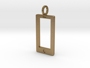 Smartphone Pendant in Polished Gold Steel