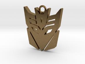 Transformers pendant in Natural Bronze