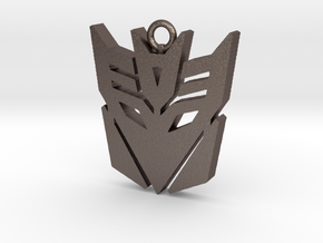 Transformers pendant in Polished Bronzed Silver Steel