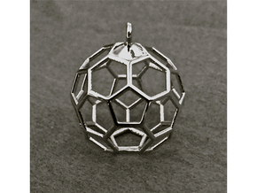 Honeycomb-60 in Fine Detail Polished Silver