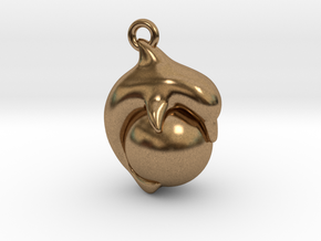 Dolphin Ball Pendant in Natural Brass