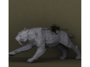 Smilodon populator in White Natural Versatile Plastic