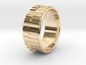 Piano Ring - US Size 08 in 14K Yellow Gold