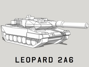 3mm Leopard 2A6 Tanks (24pcs) in Smooth Fine Detail Plastic