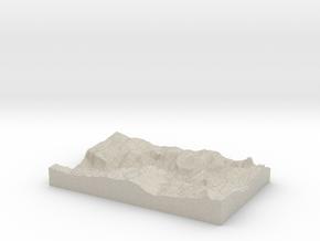 Model of Yosemite Village in Sandstone