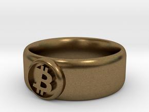 Bitcoin Ring (BTC) - Size 10.0 (U.S. 19.76mm dia) in Natural Bronze