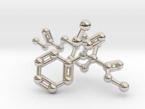 Remifentanil Molecule in Rhodium Plated Brass