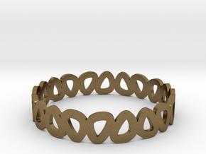 Pebble Bangle Bracelet in Natural Bronze: Small