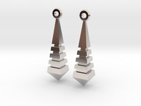 Monolith Earrings in Platinum