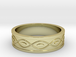 Ring with Eyes - Size 9 in 18k Gold Plated