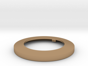 Light Lens Mount One To One in Polished Brass