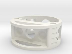 GCM110-04-01 - R.I.C.E.™ Port Style1 holder in White Natural Versatile Plastic