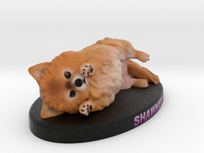 Custom Dog Figurine - Shawnee in Full Color Sandstone
