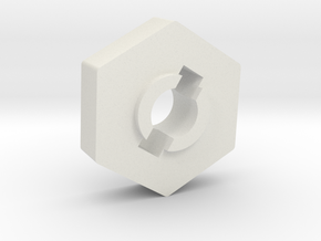 Mini 8ight Wheel Hub Hex in White Natural Versatile Plastic