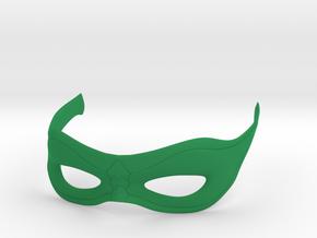 Arrow Mask in Green Processed Versatile Plastic