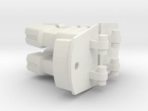 Super Toes--concept1--Rev1 in White Natural Versatile Plastic