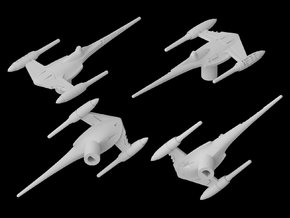 N-1 Naboo Starfighter (Damaged) 1/270  in White Natural Versatile Plastic