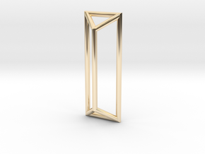 I Pendant in 14k Gold Plated Brass