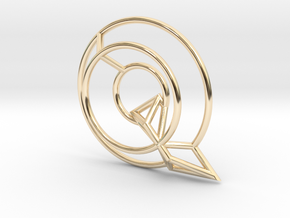 Q Pendant in 14k Gold Plated