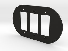 plodes® 3 Gang Decora Outlet Wall Plate in Black Natural Versatile Plastic