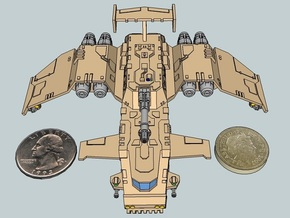 6mm ThunderSquak Gunship in White Natural Versatile Plastic