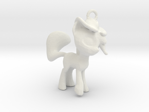 My Little Pony Pendant in White Natural Versatile Plastic