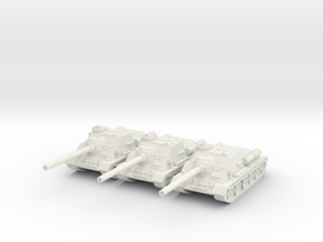 1/144 SU-100 tank hunter in White Strong & Flexible