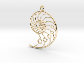 Snail Pendant in 14K Yellow Gold