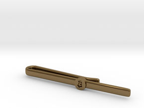 Bitcoin Tie Clip Simple in Polished Bronze