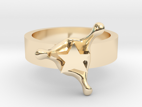 StarSplash ring size 8 U.S. in 14k Gold Plated
