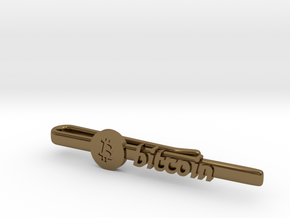 Bitcoin Tie Clip in Polished Bronze