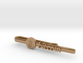 Bitcoin Tie Clip in Polished Brass