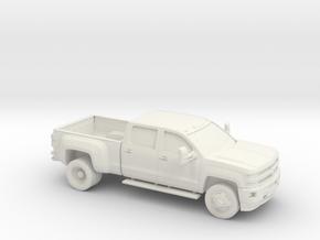 1/87 2015 Chevrolet Silverado  Dually in White Strong & Flexible
