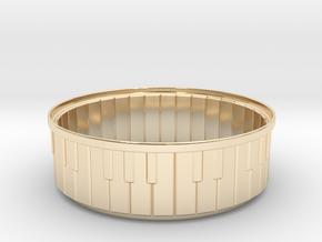 Piano Bracelet in 14k Gold Plated Brass