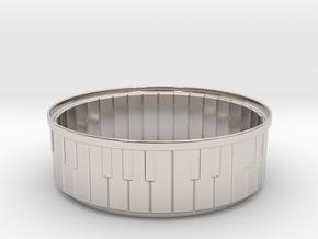 Piano Bracelet in Rhodium Plated Brass