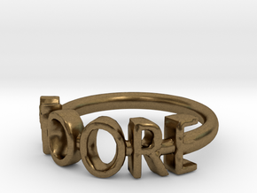 Moore Ring Size 7 in Natural Bronze