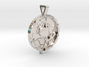 Enchanted Rose Pendant in Rhodium Plated Brass