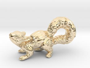 Squirrel Pendant in 14K Yellow Gold