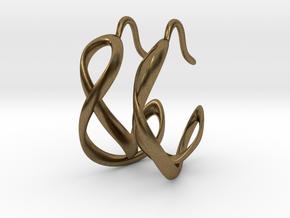 Waves Earrings in Natural Bronze