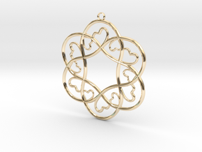 Little Hearts Pendant in 14k Gold Plated Brass