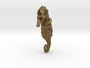 Seahorse Pendant in Natural Bronze