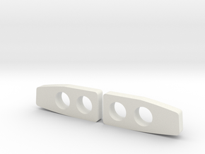 Laurel Headlights in White Natural Versatile Plastic