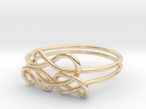 Bows Ring in 14k Gold Plated Brass