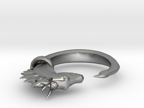 Horse Ring in Natural Silver